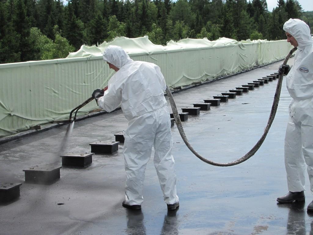 Гидроизоляция крыши полимочевиной